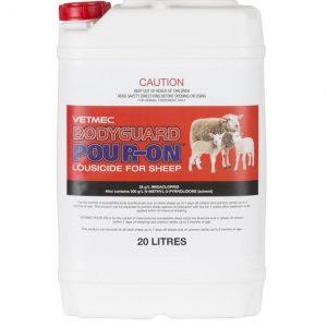 Vetmec Bodyguard Pour-On Lousicide for Sheep 20L